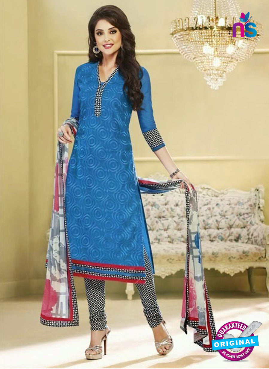 NS 11989 Blue and Black Designer Pajami Suit