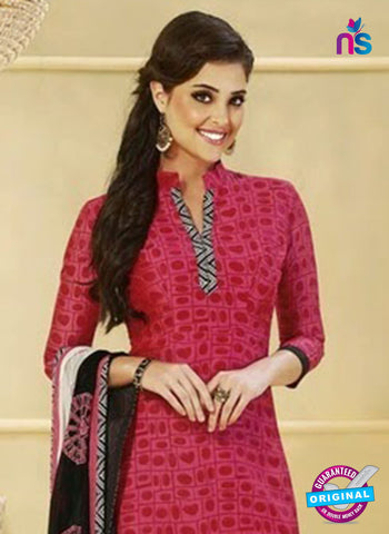 NS 11985 Red and Black Designer Pajami Suit Online
