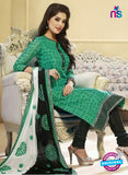 NS 11986 Green and Black Designer Pajami Suit