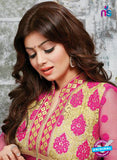 NS10272 Magenta and Beige Ocassion Wear Pure Cotton Satin Straight Suit