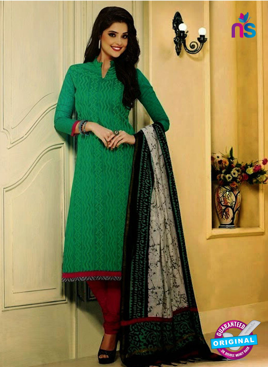 NS 11990 Green and Pink Designer Pajami Suit