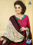 NS 11991 Pink and Green Designer Pajami Suit