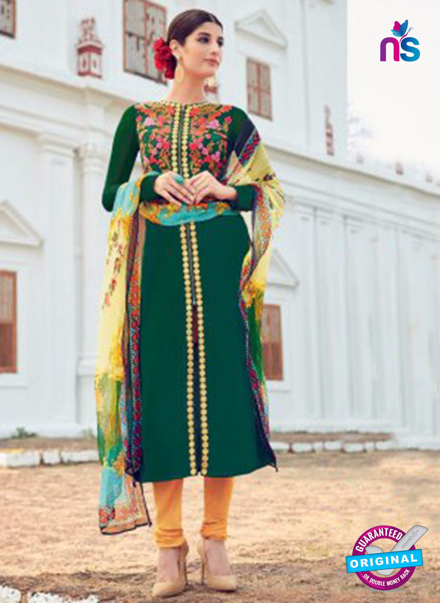 AZ 1021 Green and Orange Cotton Satin Formal Designer Suit