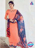 AZ 1024 Peach and Blue Cotton Satin Formal Designer Suit