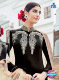 AZ 1025 Black Cotton Satin Formal Designer Suit - Salwar Suits - NEW SHOP
