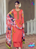 AZ 1030 Peach Cotton Satin Formal Designer Suit