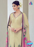 AZ 1031 Beige and Black Cotton Satin Formal Designer Suit - Salwar Suits - NEW SHOP