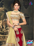 AZ 2375 Beige and Maroon Embroidered Velvet Lehenga Choli - Lehengas - NEW SHOP