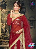 AZ 2379 Beige and Maroon Embroidered Velvet Lehenga Choli - Lehengas - NEW SHOP