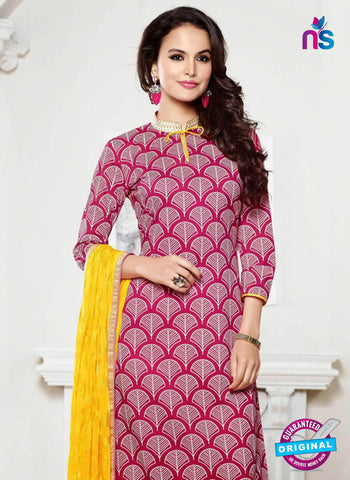 NS 11993 Pink and Yellow Designer Pajami Suit Online