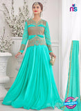 NS10275 Green Wedding Wear Korean Ly Kraw Designer Gawn