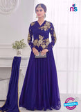 NS10282 Blue Wedding Wear Korean Ly Kraw Designer Gawn