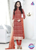 NS 11998 Orange Designer Pajami Suit