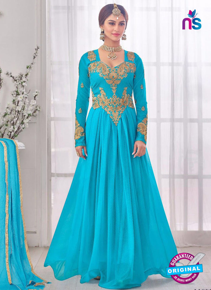 NS10283 Blue Wedding Wear Korean Ly Kraw Designer Gawn