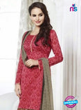NS 12002 Pink and Beige Designer Pajami Suit Online