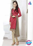 NS 12002 Pink and Beige Designer Pajami Suit
