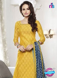 NS 12005 Yellow and Blue Designer Pajami Suit