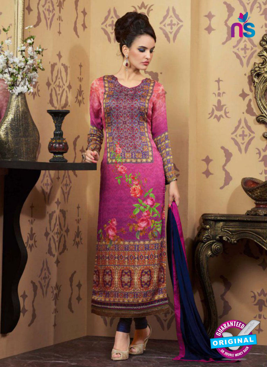 AZ 2335 Pink and Blue Crepe Pakistani Suit