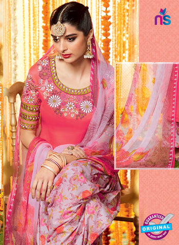 Heer 6604 Peach Cotton Satin Patiala Suit Online