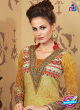 AZ 2339 Yellow and Maroon Crepe Pakistani Suit Online