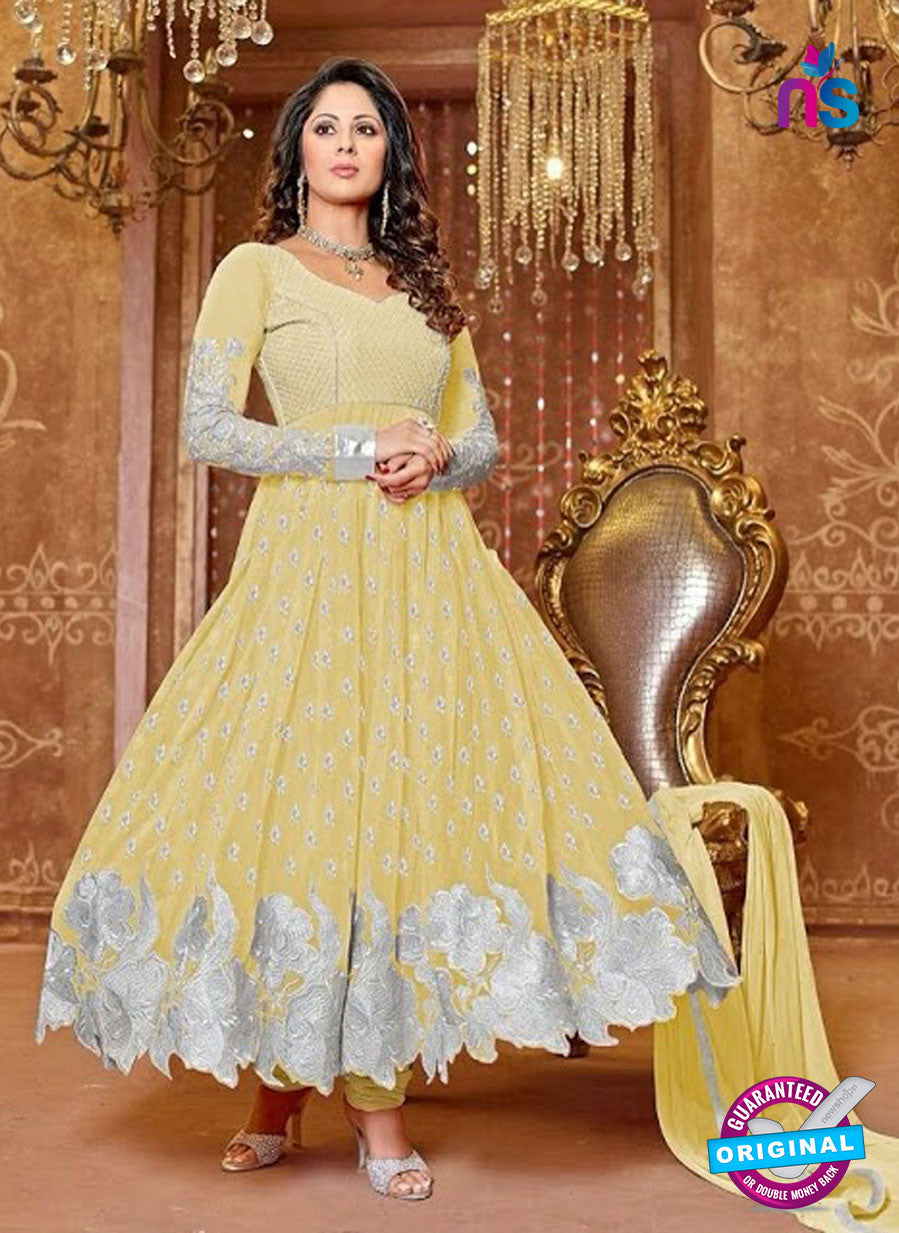 SC 13324 Yellow Georgette Anarkali Suit