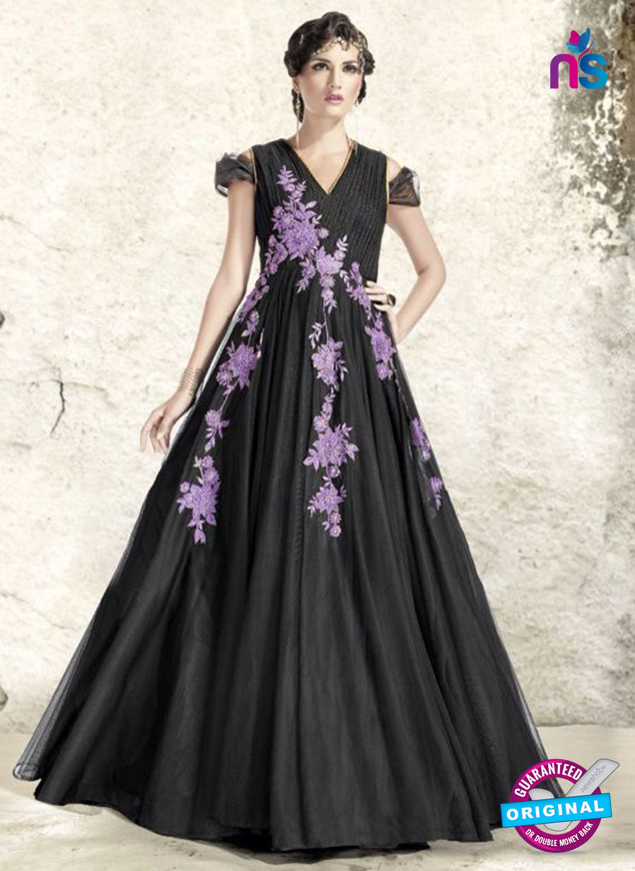 AZ 2313 Black Embroidery Net Fancy Party Wear Gawn