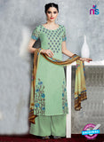 Heer 6712 Green Cotton Satin Pakistani Suit
