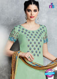 Heer 6712 Green Cotton Satin Pakistani Suit Online
