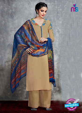 Heer Brown Cotton Satin Pakistani Suit