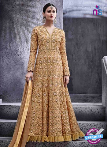 Hotlady 6773 Brown Anarkali Suit