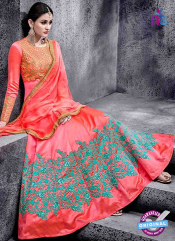 Hotlady 6774 Peach Anarkali Suit