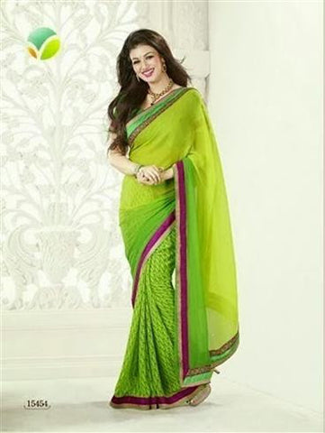 Vinay 15454 Green and Light Green Georgette Saree