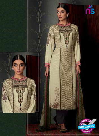 Heer 6806 Beige Pashmina Winter Suit