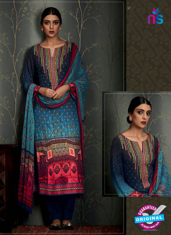 Heer 6810 Blue Pashmina Winter Suit