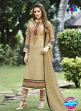SC 13292 Beige Embroidered Georgette Party Wear Designer Suit