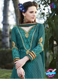 SC 13283 Sea Green Embroidered Georgette Party Wear Designer Straight Suit Online