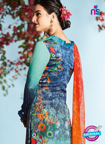 Heer 6908 Blue Plazo Suit