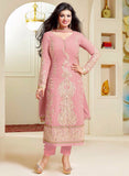 Zisa 6957  Pink Color Georgette Designer Suit