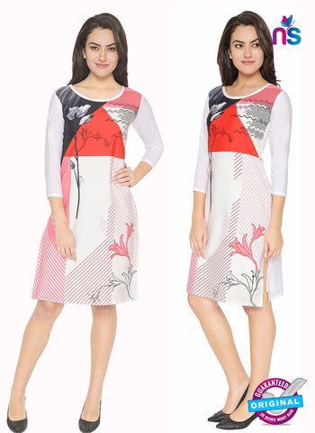 Maya 6 White Crepe Formal Kurti