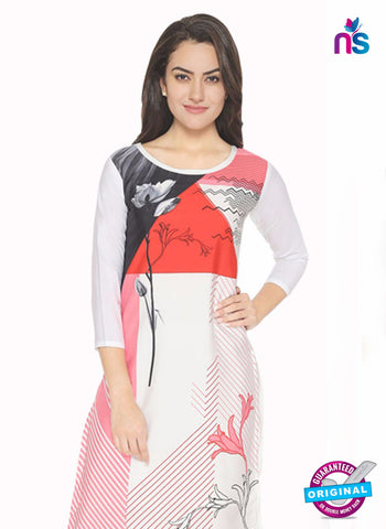 AZ 5188 White Crepe Formal Kurti