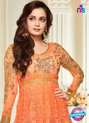 AZ 3958 Orange Georgette and Net Party Wear Anarkali Suit