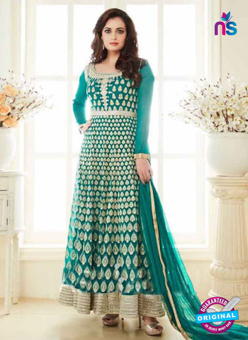 AZ 3960 Sea Green Georgette and Net Party Wear Anarkali Suit