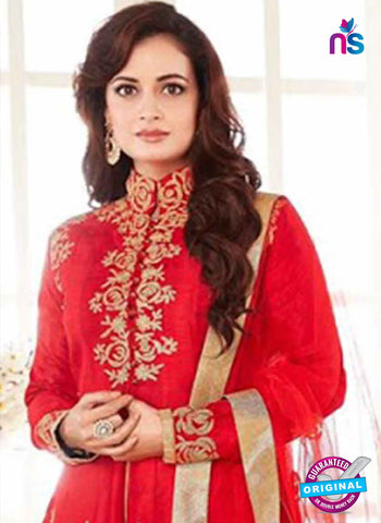 AZ 3963 Red Georgette and Net Party Wear Anarkali Suit
