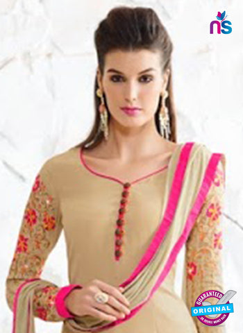 Nirvana 7001 Beige Georgette Party Wear Suit Online
