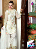 SC 13998 White Georgette Latest Exclusive Fancy Function Wear Pakistani Suit