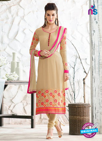 Nirvana 7001 Beige Georgette Party Wear Suit