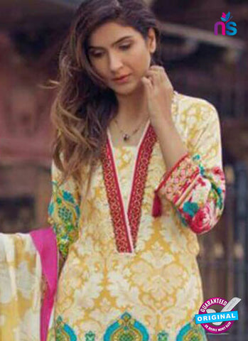 Shree Fabs 7001 Yellow Formal Cotton Suit