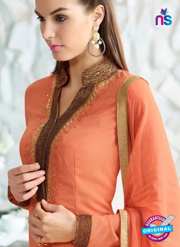 AZ 3979 Orange Georgette Party Wear Suit