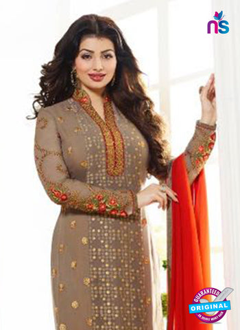 Zubeda 7002 Brown Brasso Embroidered Party Wear Suit Online