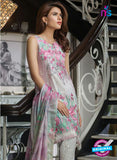 SC 13476 Pink and Grey Printed Cambric Lawn Cotton Pakistani Suit